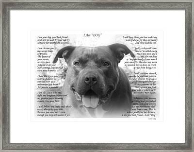 I Am Dog Framed Print
