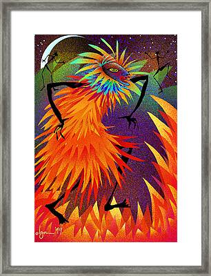 I Am Fire Framed Print