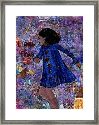 I Am Free Framed Print by Cassandra Donnelly
