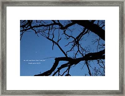 I Am God Framed Print by Cliff Ball