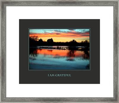 I Am Grateful Framed Print by Donna Corless