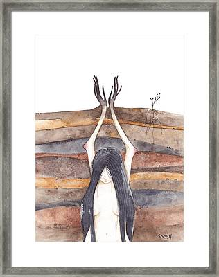 I Am Growing Framed Print