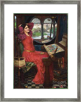 I Am Half-sick Of Shadows, Said The Lady Of Shalott Framed Print