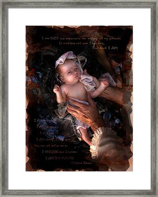 I Am  Framed Print