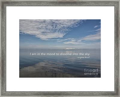 I Am In The Mood Framed Print