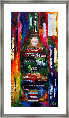 I Am Inspired Framed Print by Patti Schermerhorn