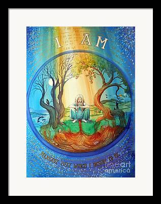 Affirmation Drawings Framed Prints