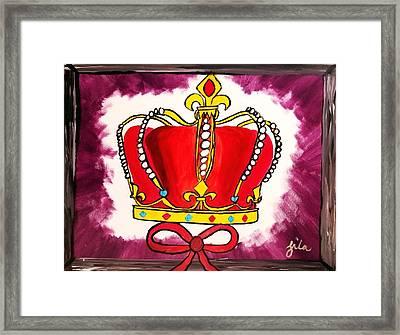 I Am King  Framed Print