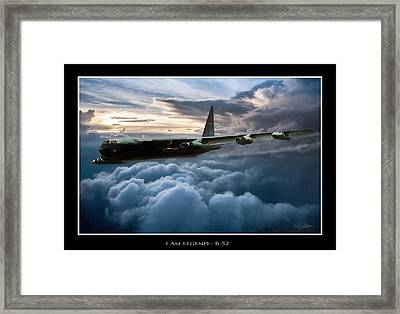 I Am Legend B-52 V2 Framed Print by Peter Chilelli