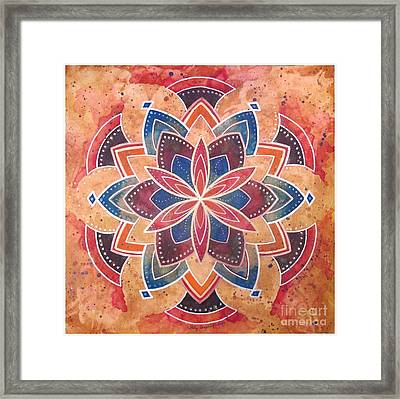 I Am Love And Acceptance Framed Print by Holly Burger