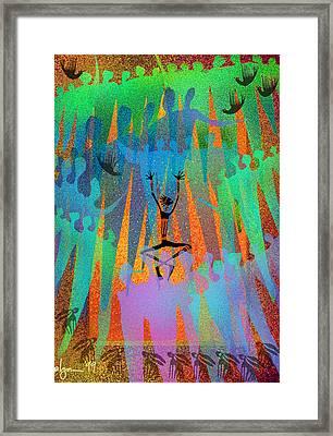 I Am Not Alone Framed Print by Angela Treat Lyon