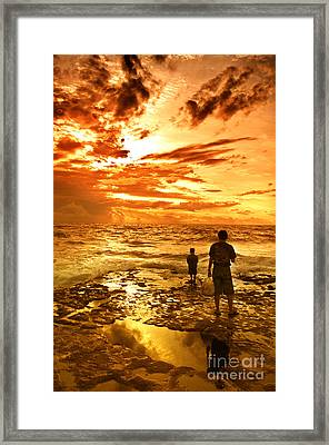 I Am Not Alone Framed Print
