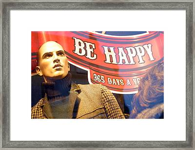 I Am Not Happy Framed Print by Jez C Self