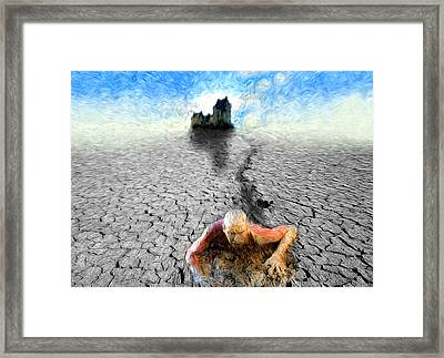 Framed Print featuring the painting I Am Not My Past by Robby Donaghey
