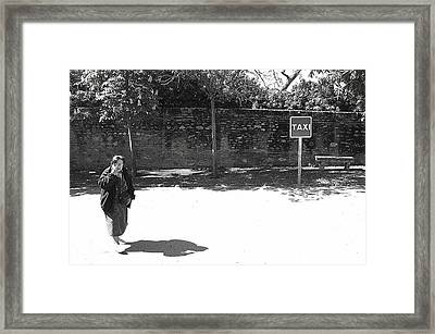I Am Not The Taxi Framed Print by Jez C Self