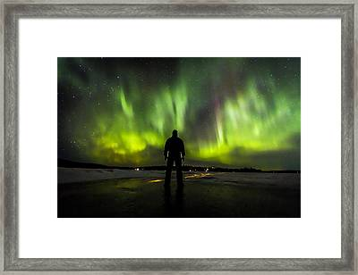 I Am Only One Observer Too Many Encounters Framed Print by Kyle Lavey