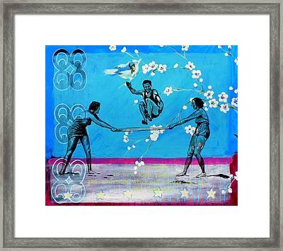 I Am Open Framed Print
