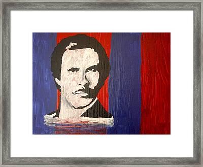I Am Ron Burgundy Framed Print by April Harker
