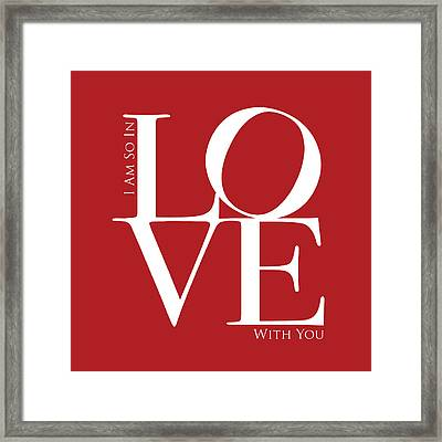 I Am So In Love Framed Print by Michael Tompsett