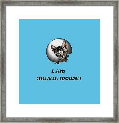 I Am Stevie Mouse Framed Print