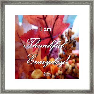 I Am Thankful # 6059 Framed Print by Barbara Tristan