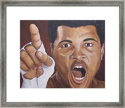 I Am The Greatest 2 Framed Print by Kenneth Kelsoe