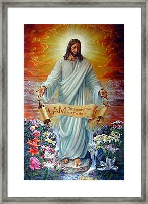 I Am The Resurrection Framed Print by John Lautermilch