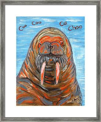 I Am The Walrus Framed Print