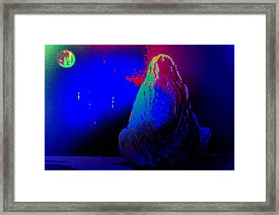I Am Waiting For You Where The Sun Goes Down  Framed Print by Hilde Widerberg