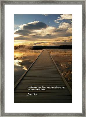 I Am With You Framed Print by Jeff Swan