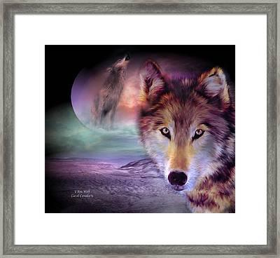I Am Wolf Framed Print by Carol Cavalaris