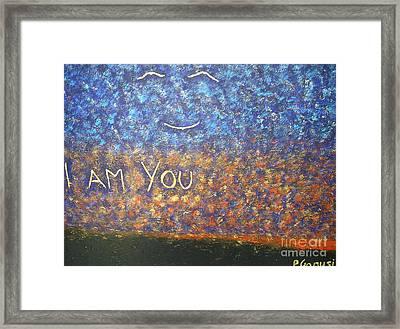 I Am You Framed Print by Piercarla Garusi