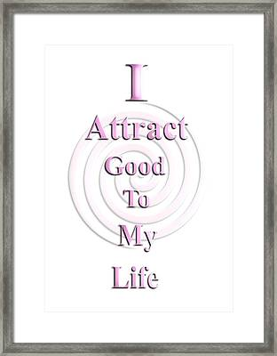 I Attract Pink Framed Print