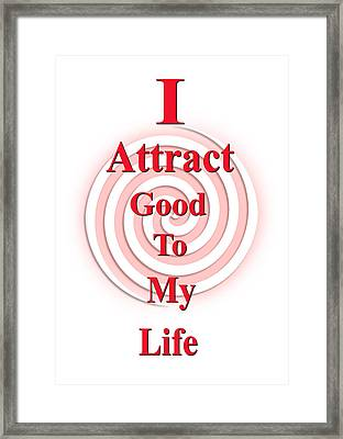 I Attract Red Pink Framed Print by I Attract Good