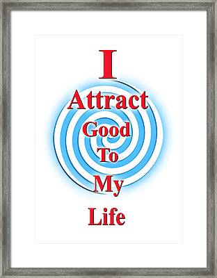 I Attract Red White Blue Framed Print