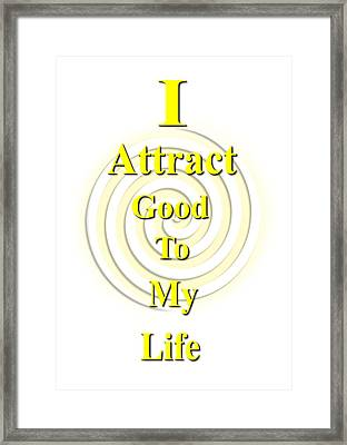 I Attract Yellow Framed Print by I Attract Good