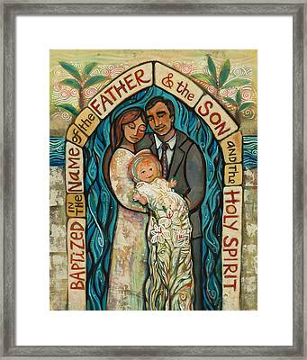 I Baptize You Framed Print by Jen Norton
