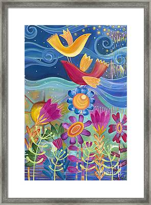 Framed Print featuring the painting I Believe I Can Fly by Carla Bank