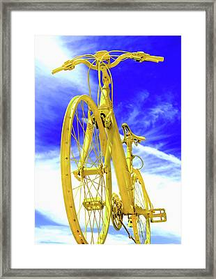I Believe I Can Ride Framed Print by Abra Blue