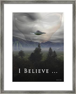 I Believe Framed Print by Nandor Volovo