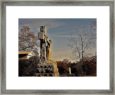 I Bring All Of My Mourning To The Cross Framed Print