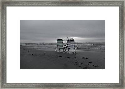 I Brought A Chair For You Framed Print