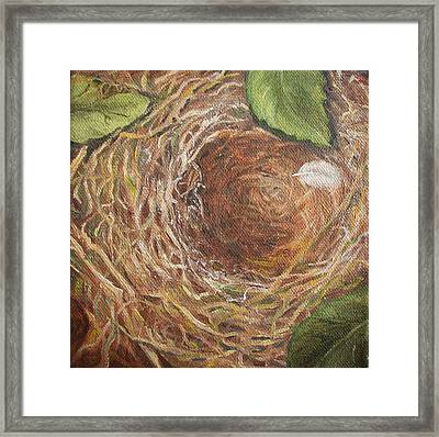 I Built You A Nest Framed Print