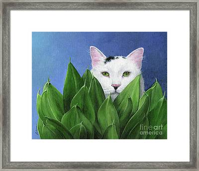I Can See You, But... Framed Print by Peggy Dreher