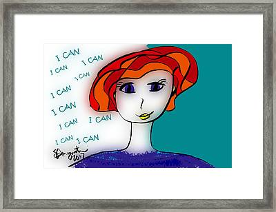 I Can Framed Print by Sharon Augustin