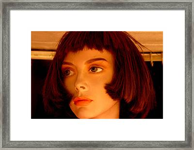 I Cannot Be Sad Anymore I Dont Have The Strength Framed Print by Jez C Self