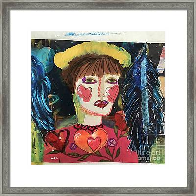 I Carry Your Heart In My Heart Framed Print by Kim Nelson