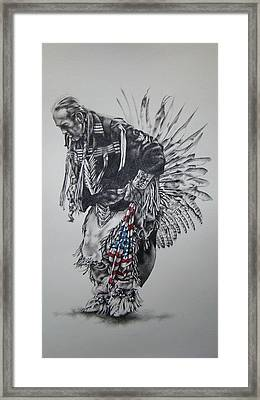 I Close My Eyes And Hear The Songs Of My Ancestors Framed Print by Michael Lee Summers