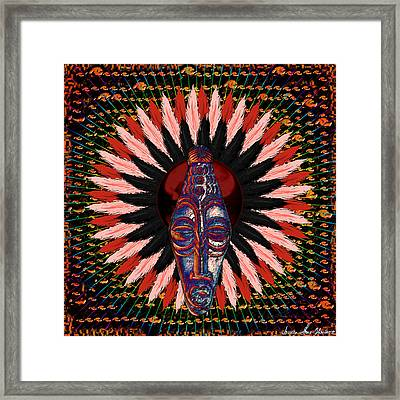 I Come 2 U With My War Paint On Framed Print by Iowan Stone-Flowers