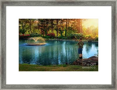 I Could Be Fishing Framed Print by Tamyra Ayles